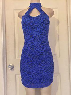 *Blue/Black Mixed BodyCon Dress •M for Sale in Dallas,  TX