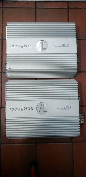 2 AL amplifiers 1200 watts for Sale in New York, NY
