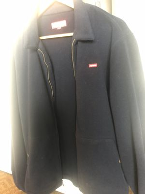 Supreme fleece jacket sz Large mens (Navy) for Sale in MIDDLE CITY EAST, PA