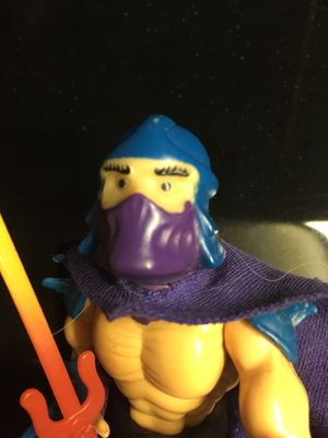 Vintage TMNT Shredder Ninja Turtle Soft Head Action Figure Toy Collection for Sale in El Paso, TX