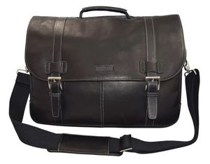 Kenneth Cole Reaction Colombian Leather Flapover / Messenger Bag for Sale in Monrovia, CA