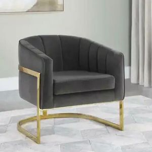 Gray Velvet Accent Chair for Sale in Miami, FL