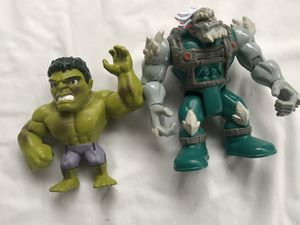 DC Super Friends Doomsday Action Figure 6 7/8 In DC Comics Imaginext Mattel 2016 and hulk for Sale in Pittsburg, CA