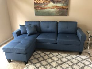 Brand new blue small sectional for Sale in Houston, TX