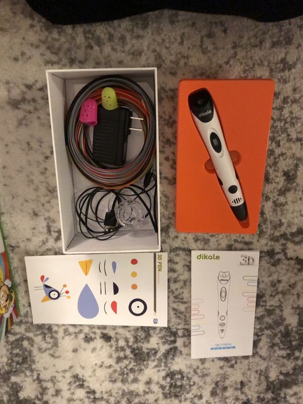 New in Box Dikale 07A 3D Pen with Filament Refills