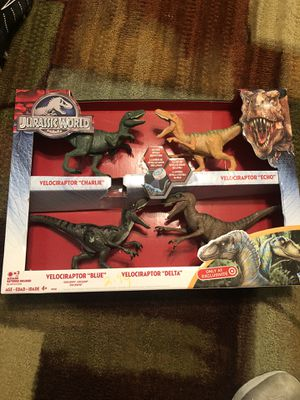 Jurassic World Velociraptor 4-Pack Delta Action Figures Set Target Exclusive for Sale in Zachary, LA
