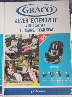 4ever extend2fit 4in I car seat for Sale in Fontana, CA