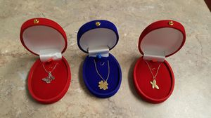 3 18k white and yellow gold pendants with chain. for Sale in Alexandria, VA