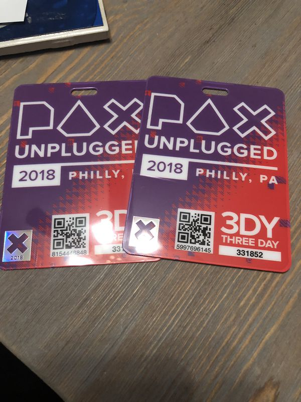 3 day Passes for PAX Unplugged in Philadelphia