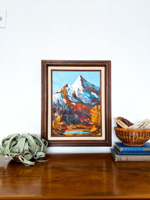 Vintage Fall Mountain Oil Painting for Sale in Mission Viejo, CA