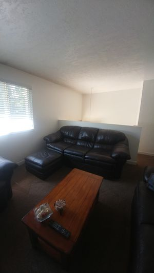 Leather couch, chair and ottoman. for Sale in Murray, UT