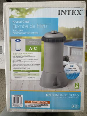 Intex pool pump 1000 gph NEW IN BOX for Sale in Olympia Heights, FL
