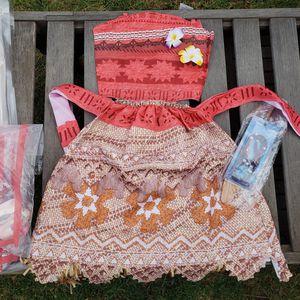 New Moana girls dress 9/10 for Sale in Whittier, CA