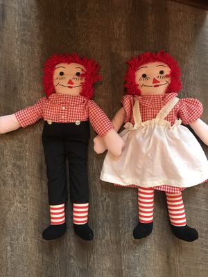 Raggedy Ann and Andy dolls for Sale in Commerce Charter Township, MI