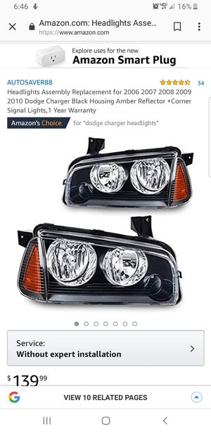 Dodge charger headlights for Sale in Houston, TX