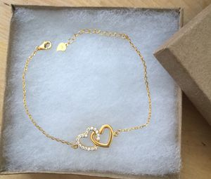 925 sterling silver heart bracelet plated with 24k gold for Sale in Baldwin Park, CA