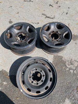 03 Dodge Ram 2500 Wheels Rims OEM Chrome black for Sale in Salem, MA