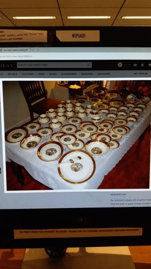 Excellent antique 1930s China dishes 22k trim over 500 pieces for Sale in Miami, FL