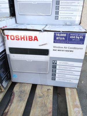BRAND NEW AC WINDOW TOSHIBA 10,000 BTU SMARTPHONE COMPATIBLE,VOICE CONTROL,QUIK AND EASY INSTALLATION FOR ANY QUESTION TEXT ME ANY TIME PLEASE. for Sale in Los Angeles, CA