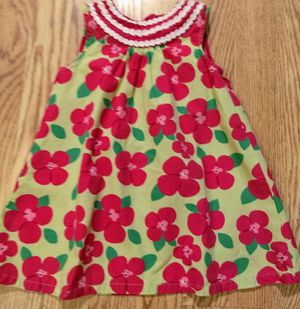 12-18 months Gymboree summer spring baby girl dress green with pink flowers EUC for Sale in Aurora, CO