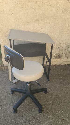 Height adjustable desk and chair for Sale in Monrovia, CA