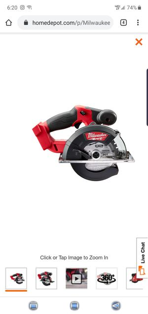 Milwaukee M18 FUEL 18-Volt Lithium-Ion Brushless Cordless Metal Cutting 5-3/8 in. Circular Saw (Tool-Only for Sale in Tucson, AZ