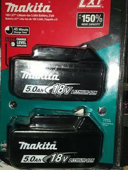 2 Pk Makita 18 Volt Batteries for Sale in Springfield,  IL