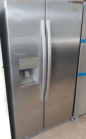 Stainless steel side by side refrigerator excellent condition like new for Sale in Laurel, MD