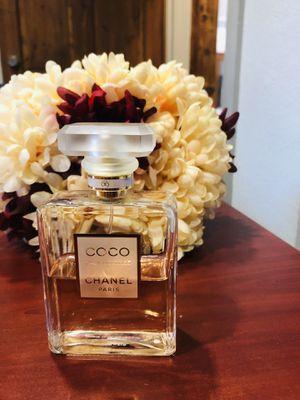 Chanel coco mademoiselle eau de parfum 3.4 fluid ounce 55%full for Sale in Niederwald, TX