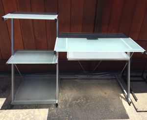 Metal and Glass Desk. In good condition for Sale in San Mateo, CA