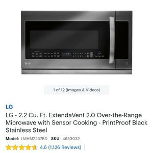 Microwave Oven LG Brand New 2.2cu for Sale in Modesto, CA