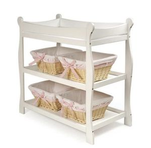 Badger Basket Sleigh Style Changing Table - White Finish for Sale in Oceanside, CA