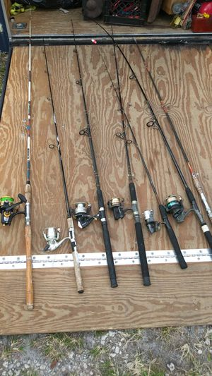 7 Fishing rods/reels for Sale in Hollywood, FL