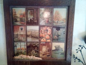 Antique Handmade Wood Frame Painting for Sale in Vallejo, CA