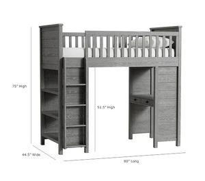 Pottery Barn Kids Charlie Loft bed TWIN for Sale in Danville, CA