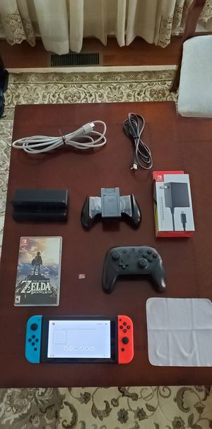 Nintendo Switch V2, Zelda, Pro Controller, memory card (firm price) for Sale in Chantilly, VA
