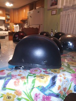 Leather covered non dot novelty motorcycle helmet polo jockey for Sale in Phoenix, AZ