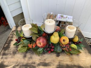 Beautiful fruit table candle centerpiece for Sale in Freehold, NJ