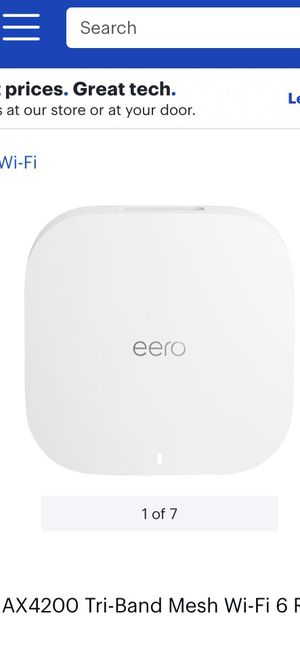 Eero WiFi 6 tri band router for Sale in Grapevine, TX