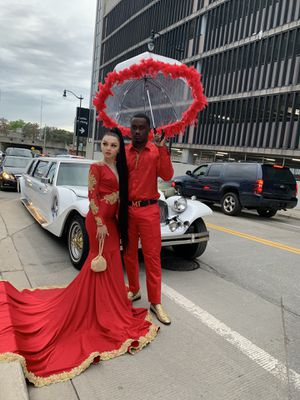 Red & Gold Prom Dress for Sale in River Rouge, MI