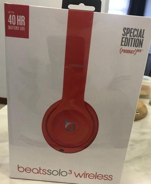 Red beats solo 3 wireless bluetooth headphones for Sale in Chula Vista, CA