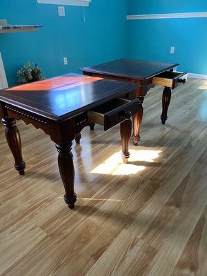 Dark Cherry Solid Wood End Tables (2) for Sale in Woodbridge, VA
