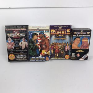 Vintage wwf vhs wrestling lot of 4 vhs tapes for Sale in Sioux Falls, SD