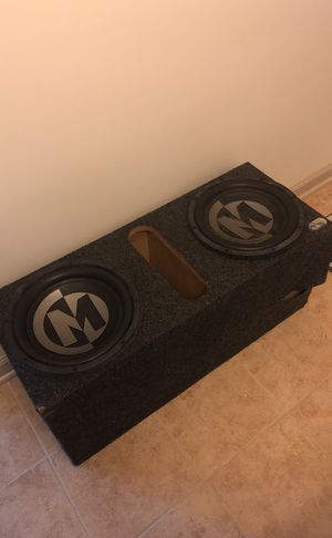 """Two 10"""" Memphis Car Audio Speakers W/ Box for Sale in Odenton, MD"""