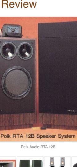 Polk audio RTA 12 B Speakers for Sale in Mount Baldy,  CA