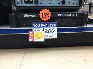 Stewart World 2.1 Stereo Power Amplifier for Sale in Kenmore, WA