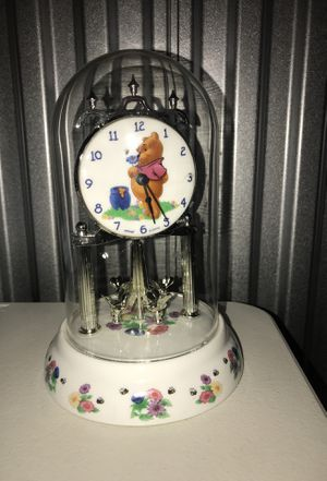 Winnie the Pooh Disney antique style glass dome clock for Sale in Chicago, IL