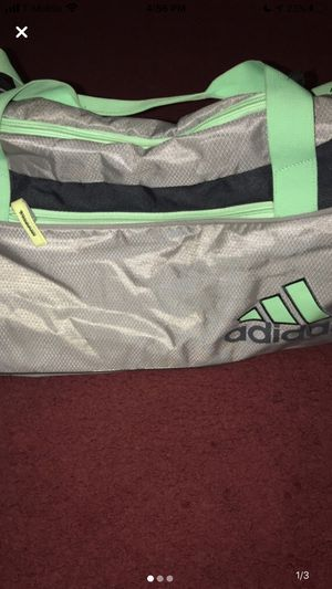 Adidas Grey/Green Sports Duffle Bag for Sale in Los Angeles, CA