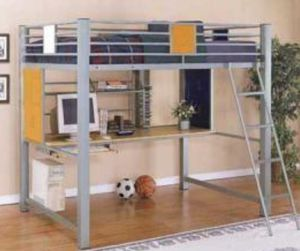 Bunk bed with desk. Full size for Sale in Levittown, PA