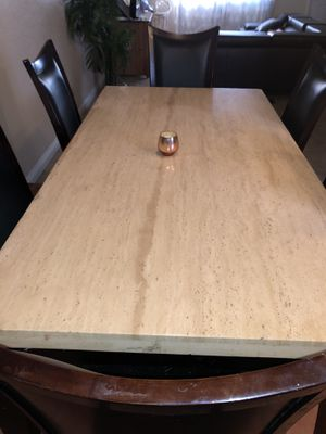 Marble Dining Table for Sale in Apple Valley, CA